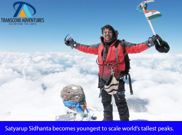On Top Of The World Engineer Mountaineer Satyarup Sidhanta Becomes Youngest To Scale World S Tallest Peaks He Is The Youngest Person Adventure Everest Young