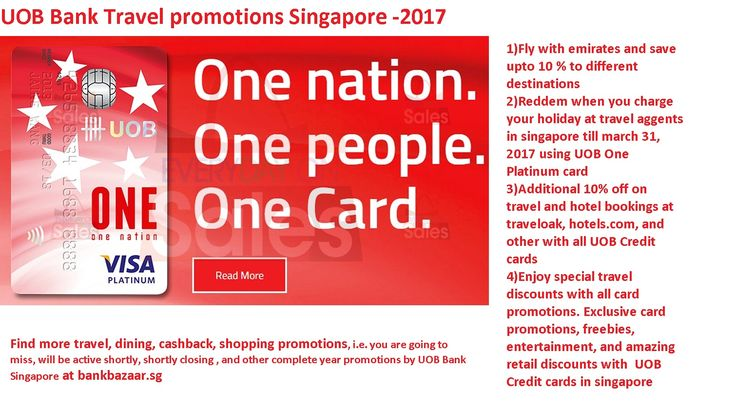 Get the latest travel promotions offering by #uob, #ANZ, and other top banks in singapore on bankbazaar.sg, Find top flight deals, top trending hotels and cheap holiday packages on sale for the day.