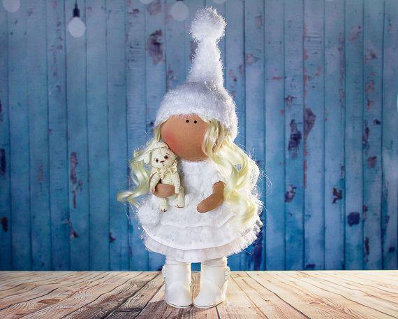Doll Boni. Big doll. Tilda doll. Textile doll. Soft toy. by OwlsUa