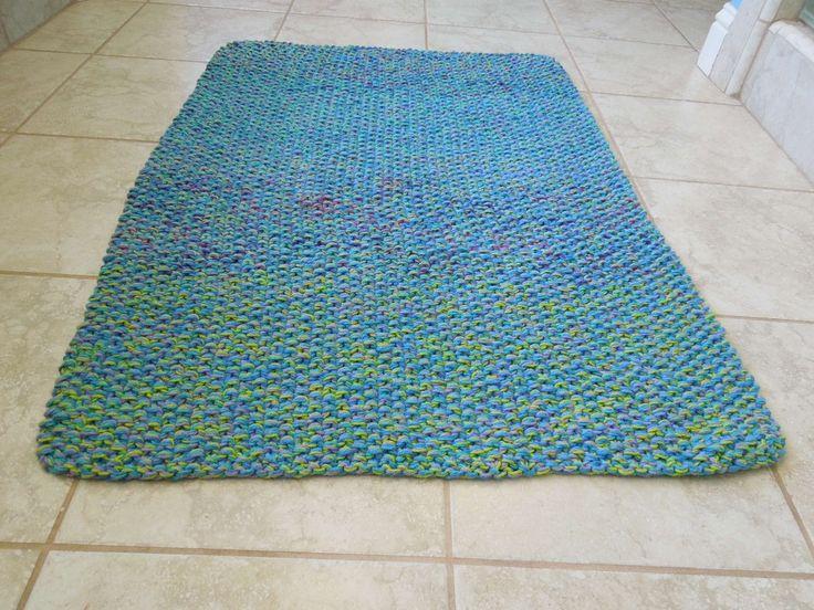 Cotton Bath Mat Rug Knitting Pattern Crafts Pinterest