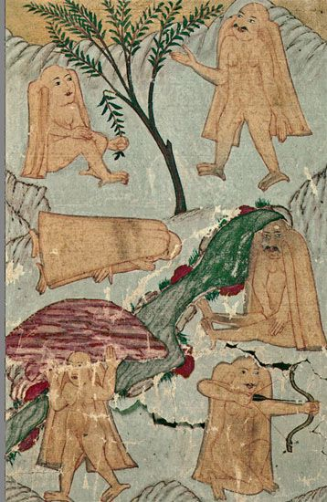 Ye'cûc-Me'cûc. Ahval-i Kıyamet. (Süleymaniye Kütüphanesi, Hafid Efendi 139)