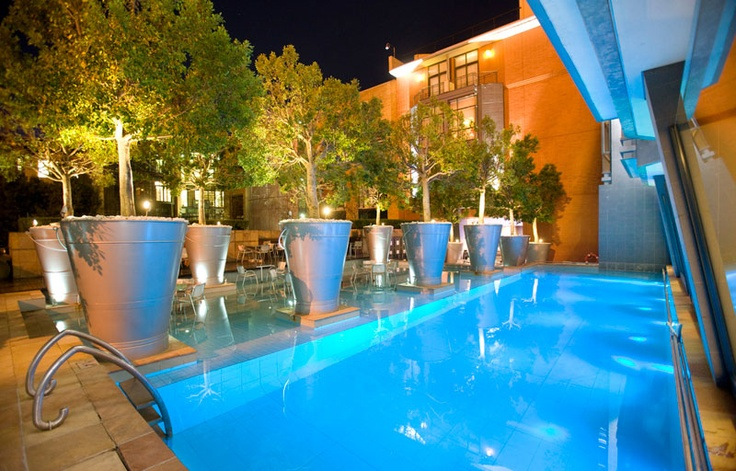 Pool at night - African Pride Melrose Arch Hotel