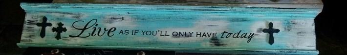 New sign made from a 100 year old door header!  www.dumpster-diva-mimi.blogspot.com