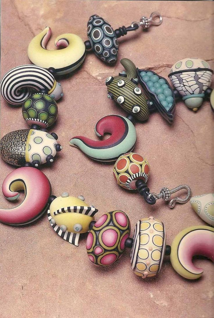 30 easy diy polymer clay beads ideas (14)