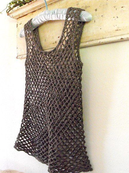 Lovely little summer tank/cover up.  Link to free pattern is found on blog. DROPS 82-6 by DROPS Design