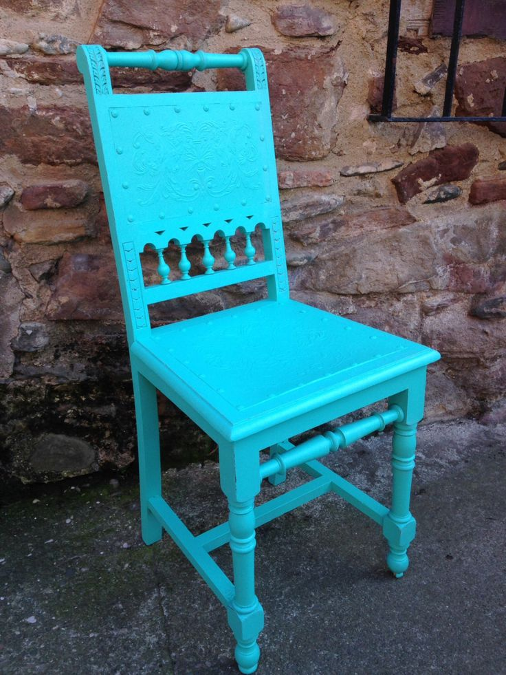 Turquoise Chair. by KatiaMarkina on Etsy https://www.etsy.com/listing/226151808/turquoise-chair