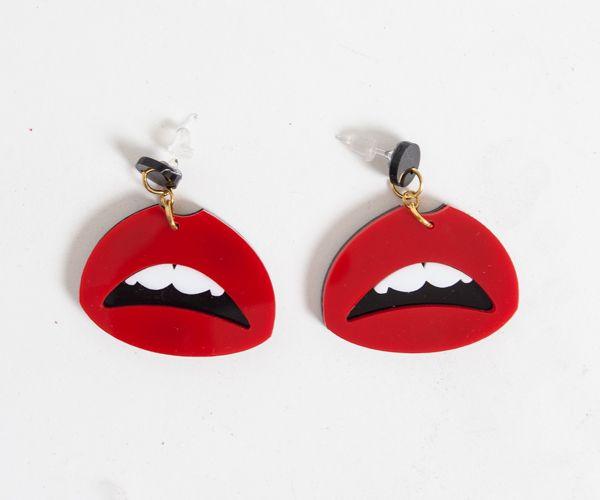 Kiss X Kiss #185000 #earrings #red #lips #kiss  http://zocko.it/LDusq