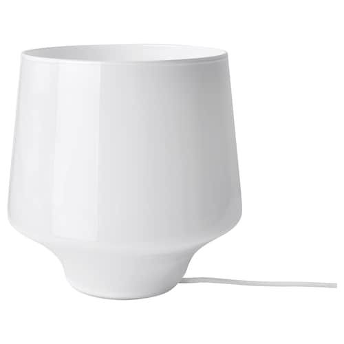 GRÖNÖ Bordlampe frostet glas hvid | Bordlampe, Ikea, Lyspære
