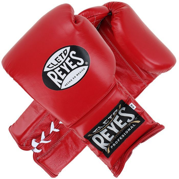 Cleto Reyes Training Lace-up Boxing Gloves - Red