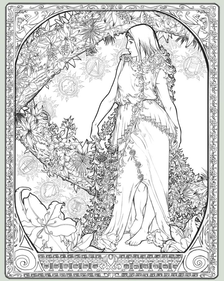 Awesome Alphonse Mucha Coloring Pages