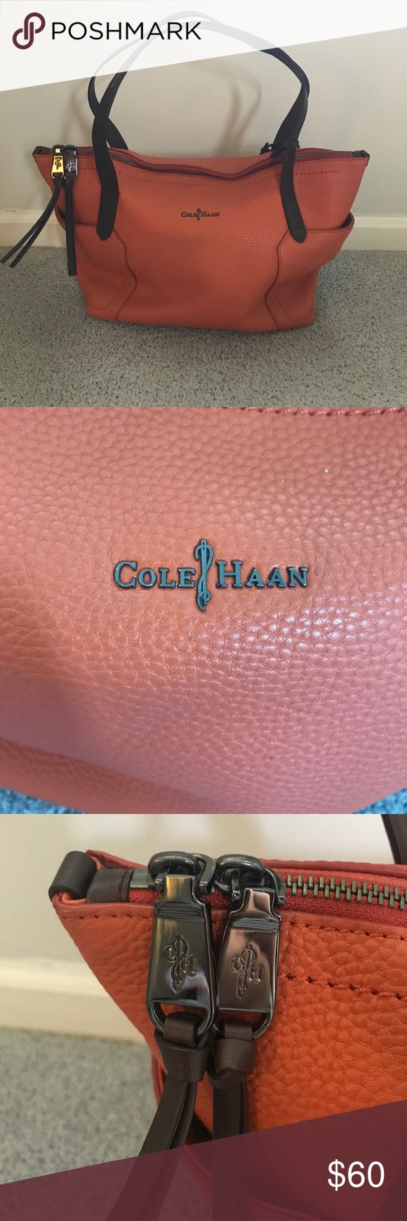 Cole Haan Orange Purse Come Haan Orange Purse! Like new, never been used! Beautiful detailing and soft leather. Offers welcome :) Cole Haan Bags