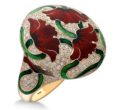 Poppy Enamel Ring