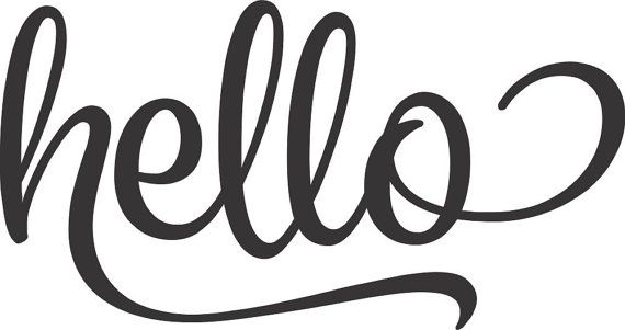 Front Door Decal Hello Vinyl Decal Hello by RunWildVinylDesigns