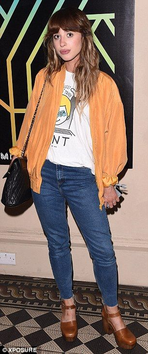Star-studded: Singer Louisa Rose Allen, aka Foxes, also made a stylish appearance on the n...
