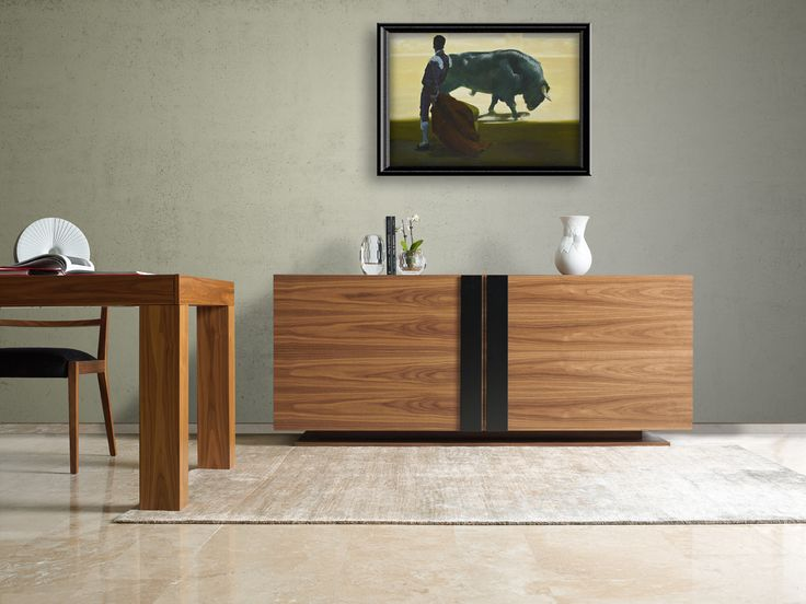 GLAMOUR contemporary sideboard with sliding doors