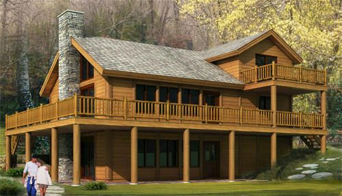 Woody chalet information packet kit only at menards for Chalet style home kits