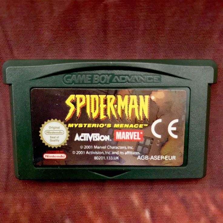 Gameboy Advance Game Spider Man Vintage Retro Handheld Console Gaming Computer