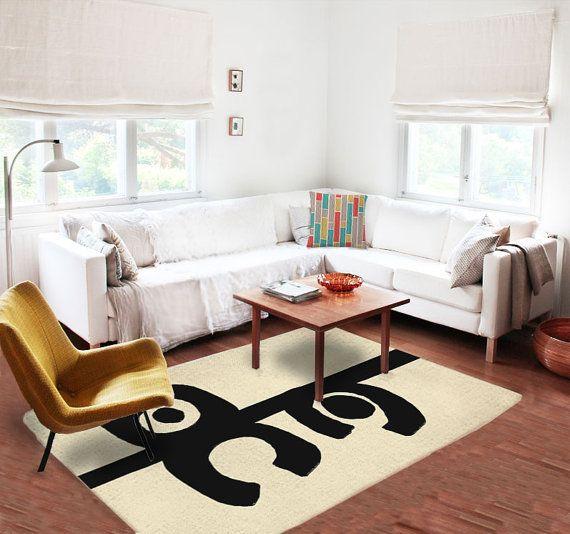 8x5 Decorative Rug, Modern Rug, Contemporary Rug, Carpet, Artistic Rug,  Contemporary