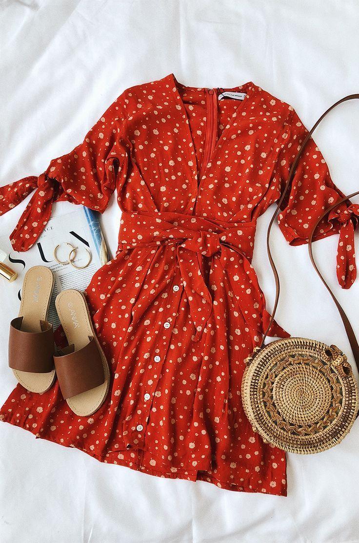 Cute red dress fro summer. #summerstyle #fashion #accessories #fashionaccessori…