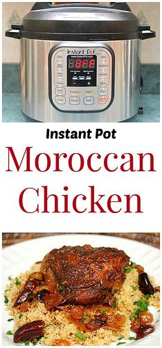 Instant Pot Moroccan Chicken is full of aromatic spices and tender, braised chicken. No need for a tangine pot!   What's Cookin, Chicago?
