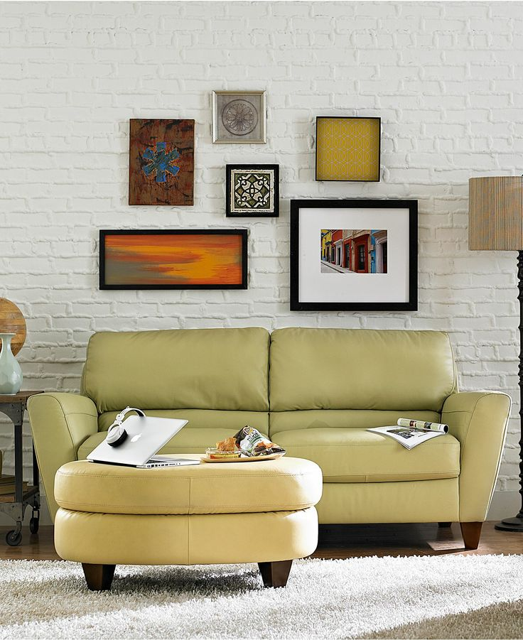 Leather sofa living room furniture collection furniture macys