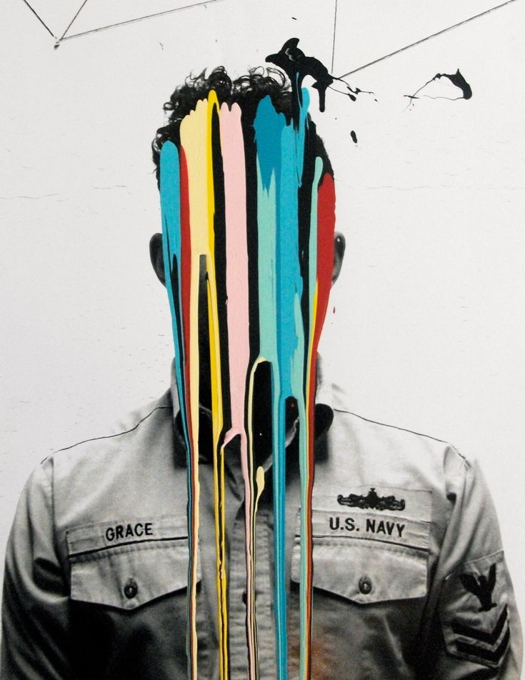 Jonni Cheatwood's work is often in the form of geometric abstraction, but his recent series entitled Grace displays his unique take on self portraits. By pouring brightly coloured acrylic paint down a black and white image of himself he's created a rather striking set of abstract images that maintain his anonymity.