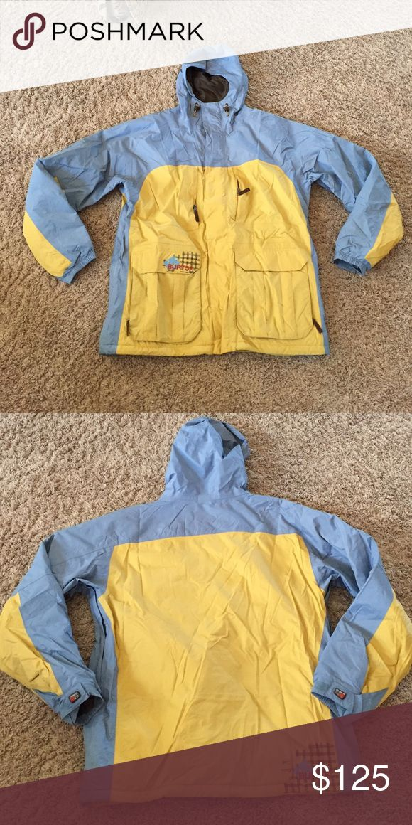 Burton Ski Jacket Only worn a few times - grey and yellow combo. Super warm and comfortable. Burton Jackets & Coats Ski & Snowboard