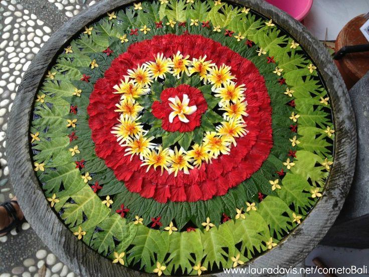 A beautiful Balinese offering. #Bali #flowers #mandala #writing #retreat #yoga