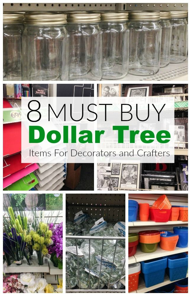 Transform your home with these must buy Dollar Tree items for decorators and crafters! Littlehouseoffour.com #dollartree