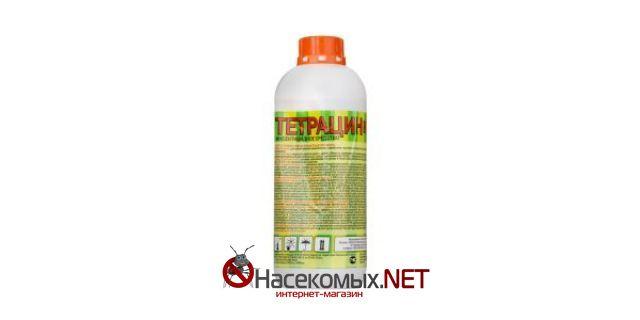 Инсектицидное средство - Тетрацин 1 л. ДВ - циперметрин 10%, ППБ 10%, тетраметрин 1,5%, ПАВ 7%. Профессиональное средство обладает отличной эффективностью в борьбе с различными насекомыми: тараканы, мухи, постельные клопы, блохи, муравьи, комары. Купить средство Тетрацин в нашем интернет-магазине.