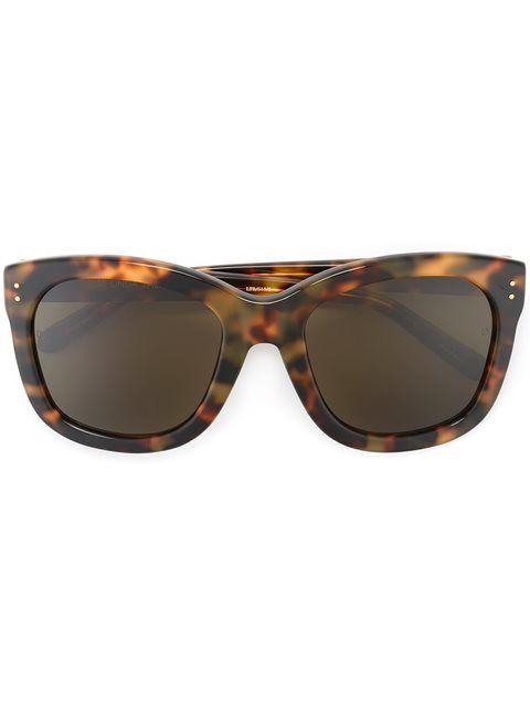 LINDA FARROW tortoiseshell sunglasses. #lindafarrow #琥珀镜框太阳眼镜
