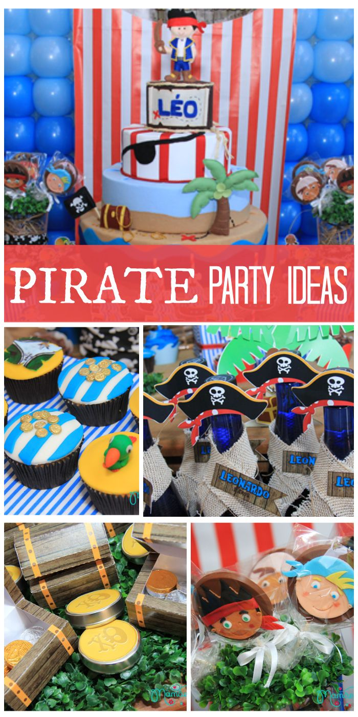 Check out this fantastic, colorful Jake and the Neverland Pirates party with a ship, gold and more!