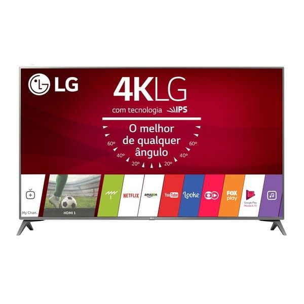 cool Smart TV LED 49 ´ Ultra HD 4K LG 49UJ6565 com Sistema WebOS 3.5, Wi - Fi, Painel IPS, HDR, Local Dimming, Magic Mobile Connection, HDMI e USB