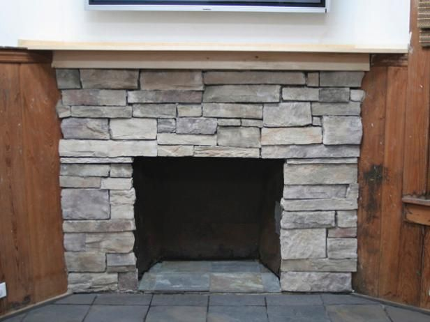 How to cover a brick fireplace with stone an fireplaces - Ideas to cover fireplace opening ...
