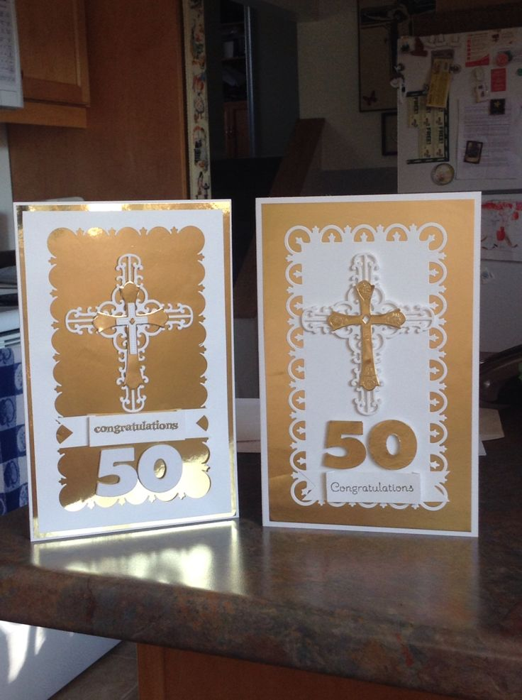 2 large cards I made for a Pastor 50 years in the ministry