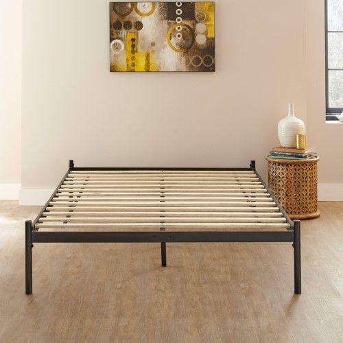 Pure Posture Carson Platform Bed Silver