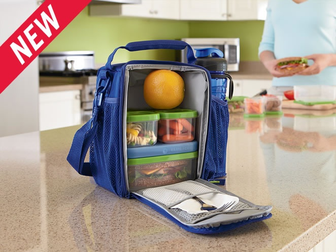 Lunch bag for lunch blox. Also holds water bottle.