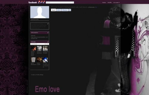 Free lovers Backgrounds For Facebook Profile | Emo Love Facebook Layouts
