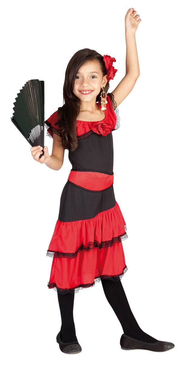 Kostüm Spanierin für Kinder Größe L = 11-14 Jahre