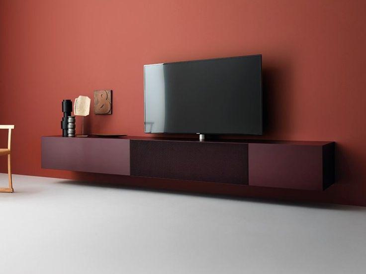 Best 25 meuble tv laqu ideas on pinterest for Meuble multimedia design