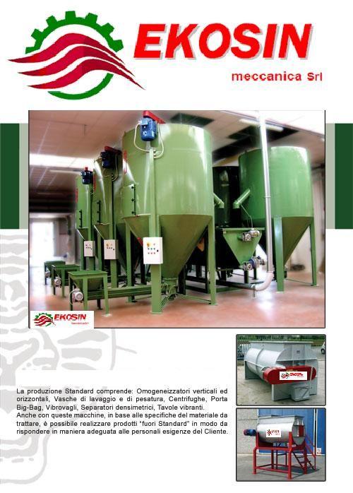 Macchine Adatte a miscelare prodotti in granuli e polverunenti, dalla plastica, gomma, mangime, settore chimico farmaceutico, integratori per animale e nelle industrie in genere.