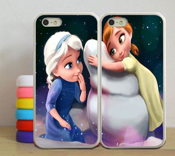 affaire Anna et elsa Disney Double affaire iphone 5 par Asucase8