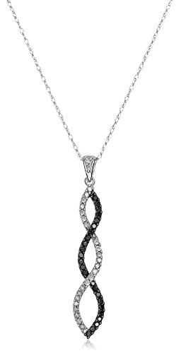 #blackdiamondgem 10k White Gold Black and White Diamond Infinity Pendant Necklace (1/4 cttw, J-K Color, I3 Clarity), 18″by Amazon Collection - See more at: http://blackdiamondgemstone.com/jewelry/necklaces/pendants/10k-white-gold-black-and-white-diamond-infinity-pendant-necklace-14-cttw-jk-color-i3-clarity-18-com/#sthash.kCF8mCab.dpuf