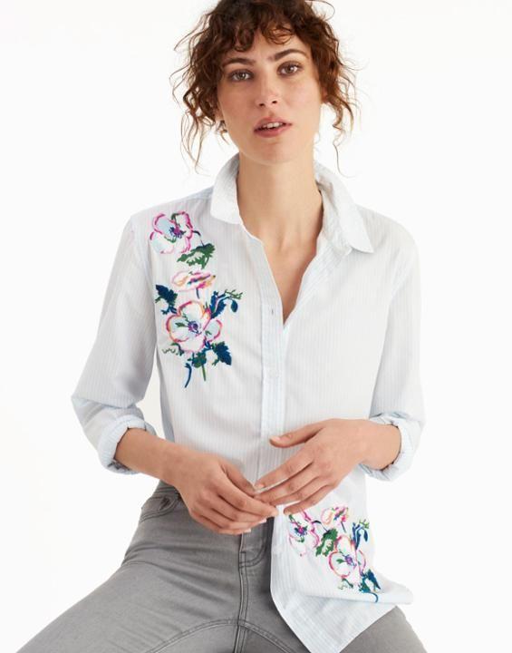 90b79d28e82 Joules Laurel Embellished Women's Longline Shirt - Women's New Collection