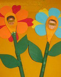 Van een pollepel een bloem maken