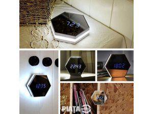 Vestimentatie, Bijuterii, accesorii, Ceas Oglinda Iluminat Digital Alarma - Make-up Mirror watch, imaginea 1 din 8