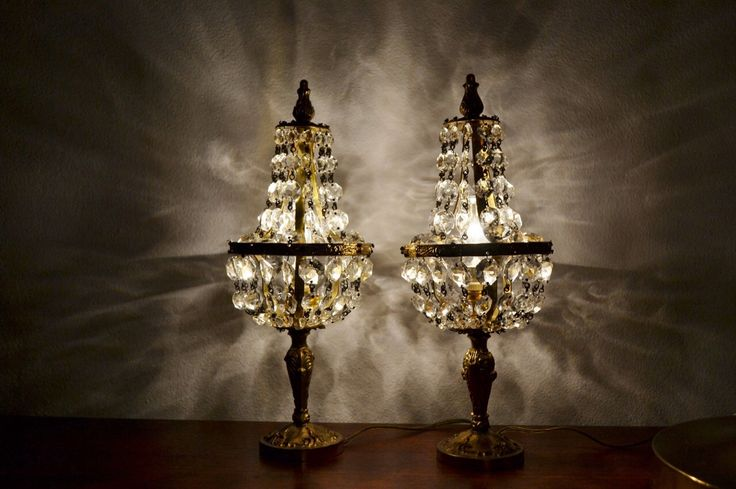 My crystal lamps.