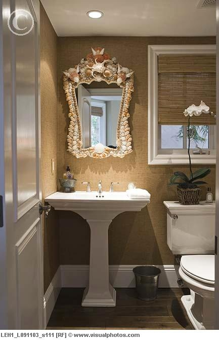 Wall Texture With Pedestal Sink The Mirror Has Got To Go Back To The Sea Stanwood Home