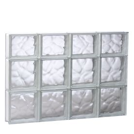 Redi2set Wavy Glass Pattern Frameless Replacement Glass Block Window 31.5-In 21.75-1-In S3222DC