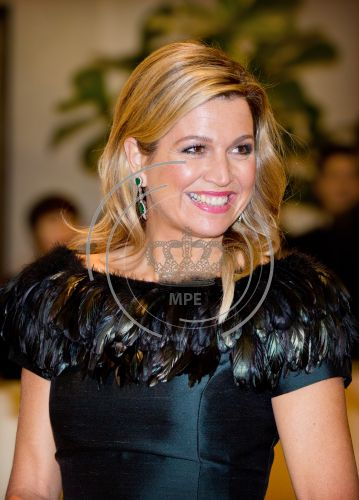 Máxima's best colors - How wonderful to see Máxima in a dress that fits well on her bodyshape. Her make-up is great and her hairstyle could not be better. (4 November 2014 in Seoul South Korea)